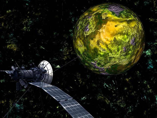 Satelit na oběžné dráze