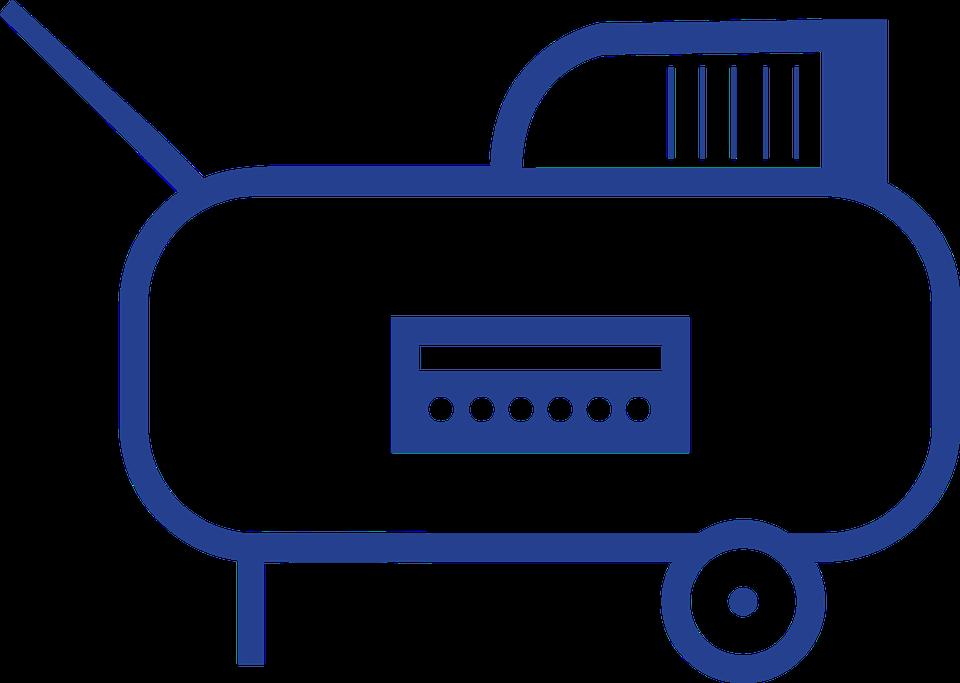 modrý kompresor